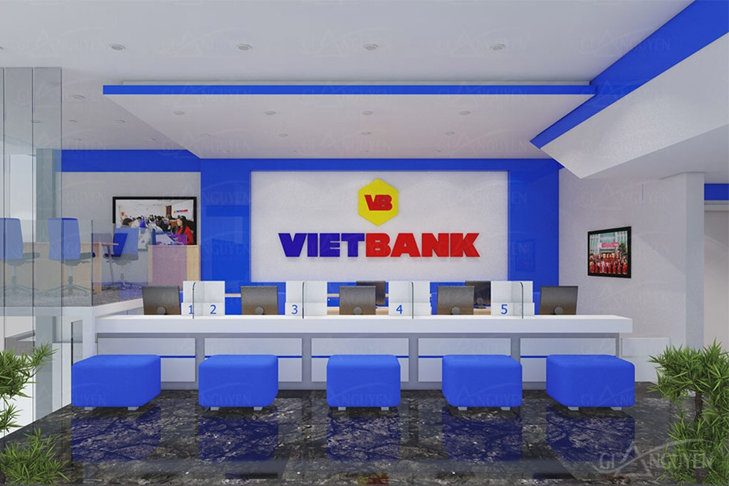 Interior of VietBank Office in HCMC